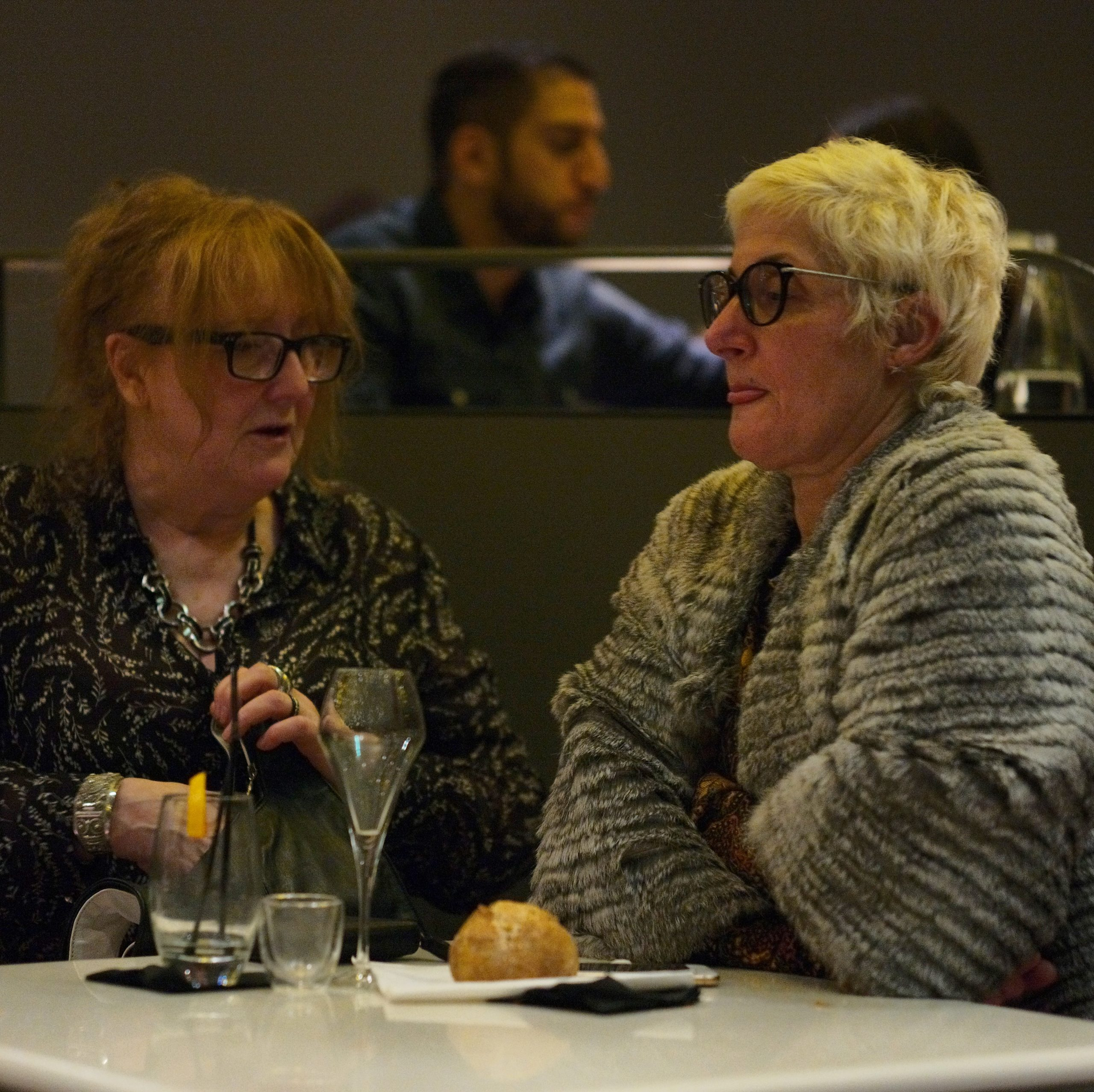 Women talking in Montparnasse Tour restaurant, Paris - Leica M10