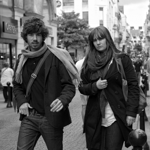 Young couple walking in Nantes - Fuji X-Pro1