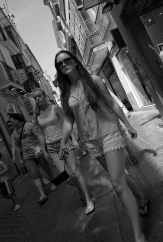People walking in Palma, Majorca - Fuji X-Pro1